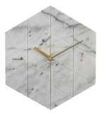 Present Time: Marble Hexagon Wall Clock - White