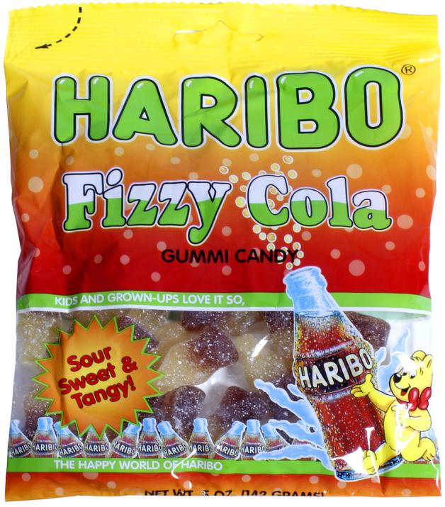Haribo Fizzy Cola Gummi Candy 142g