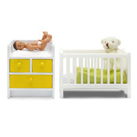 Lundby: Stockholm (2015) - Cot, Change Table & Baby Set
