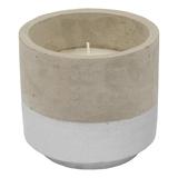 Concrete Citronella Candle - Silver (Large)