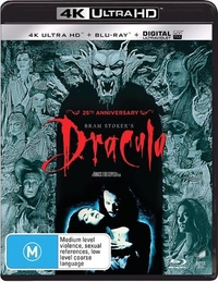 Bram Stoker's Dracula on UHD Blu-ray, UV