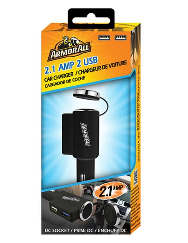 Armor All: 2.1 AMP 2 Port Car Charger