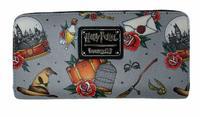 Loungefly: Harry Potter - Props Print Zip-Around Wallet