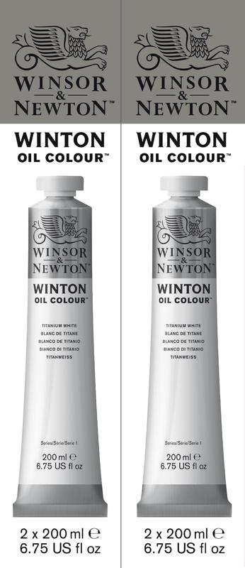 Winsor & Newton: Winton Oil Colour Twin Pack - Titanium White (200ml)