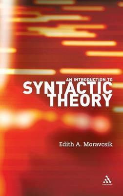 An Introduction to Syntactic Theory by Edith A. Moravcsik