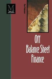 Off Balance Sheet Finance by Ron Paterson