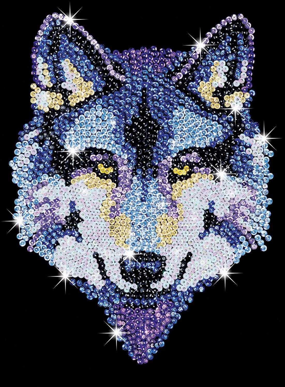 Sequin Art - Wolf image
