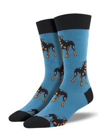 Mens - Blue Rottweiler Crew Socks