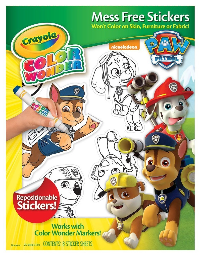 Crayola: Color Wonder Mess Free Sticker Set - Paw Patrol image
