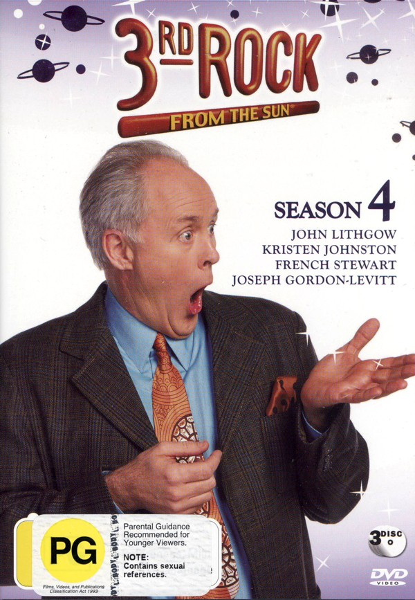 3rd Rock From The Sun Season 4 (3 Disc) on DVD image