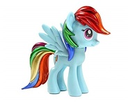 My Little Pony Rainbow Dash Metallic Vinyl Figure