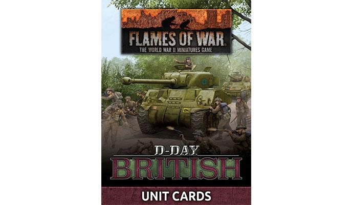 """Flames of War: """"D-Day British"""" Unit Card Pack (66 cards) image"""