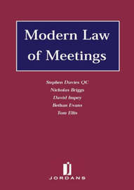 Modern Law of Meetings by Bethan Evans image