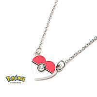 Pokemon Pokeball Heart Necklace