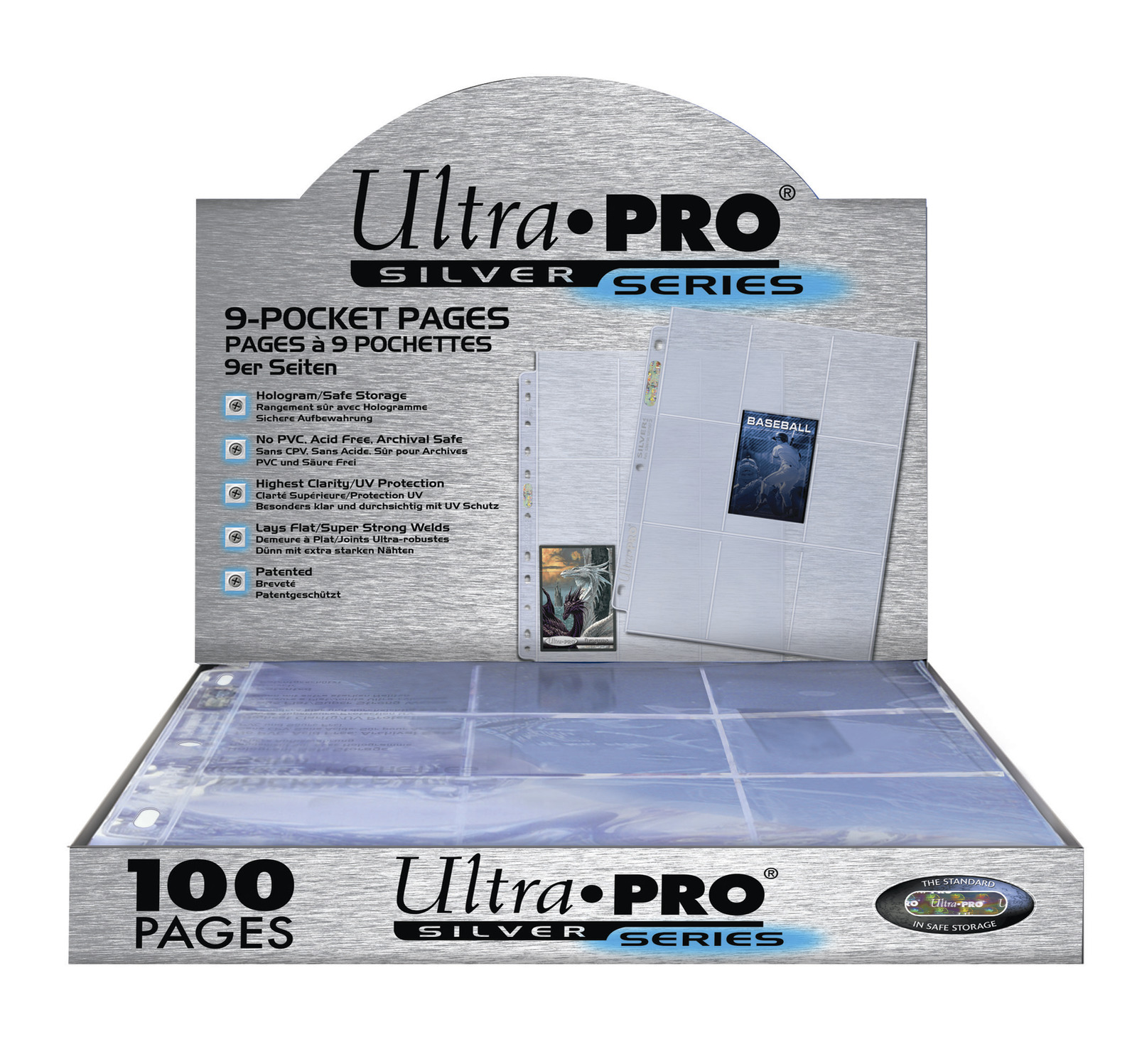Ultra Pro 9 Pocket Silver Series Box (100 pages) image