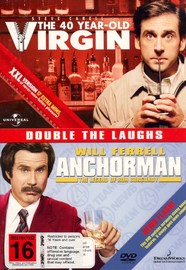 40 Year Old Virgin / Anchorman - Double Pack (2 Disc Set) on DVD image