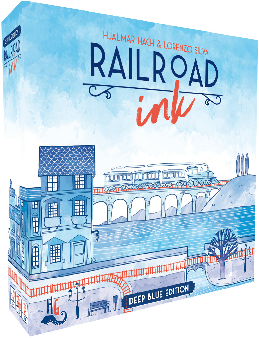 Railroad Ink: Deep Blue Edition - Board Game image