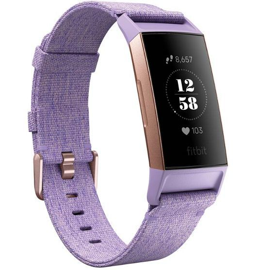 Fitbit Charge 3 SpeciaL Edition Lavender Woven / Rose Gold Aluminum
