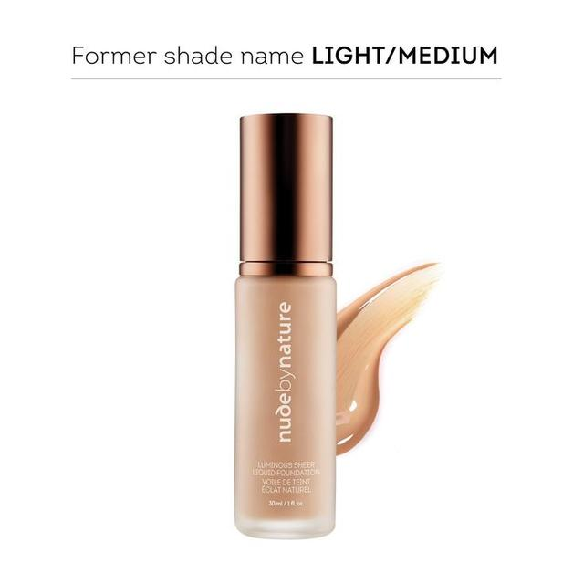 Nude by Nature Luminous Sheer Liquid Foundation W1 - Rose Beige