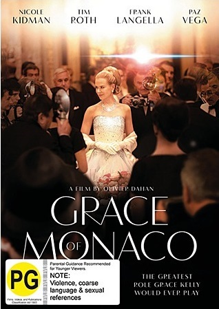 Grace of Monaco on DVD image