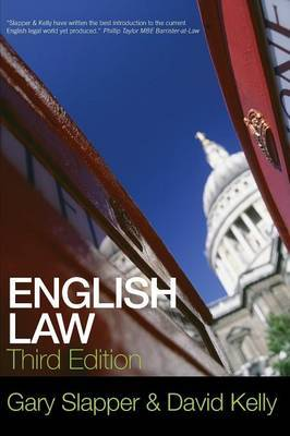English Law by Gary Slapper image