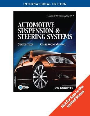 Today's Technichian: Automotive Suspension & Steering, International Edition by Don Knowles image