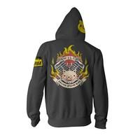 Overwatch Ultimate Roadhog Zip-Up Hoodie (Large)
