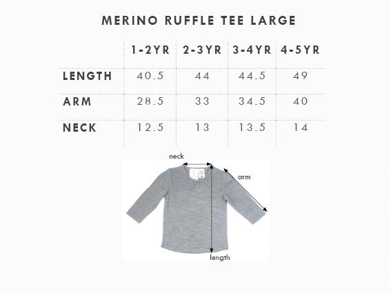 Babu: Merino Ruffle Long Sleeve T-Shirt - Pink (1 Year) image