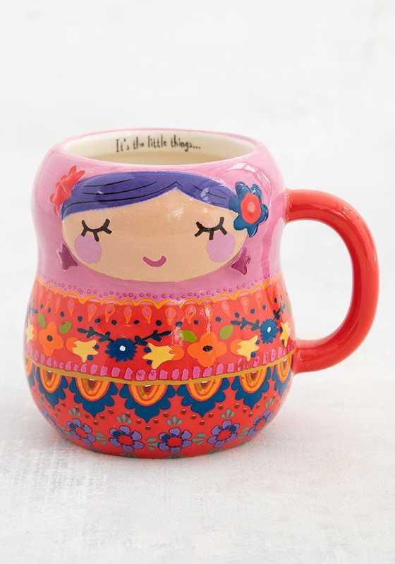 Natural Life: Folk Mug - Nesting Doll
