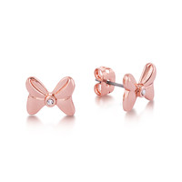 Disney Couture Minnie Bow Stud Earrings - Rose Gold