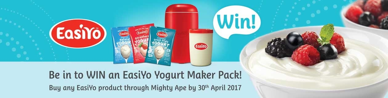 Be in to WIN an Easiyo Yoghurt Maker Pack!