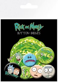 Rick and Morty Pin Badges (Characters)