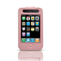 Belkin Pink Leather Sleeve w/ Clip for 3G iPhone image