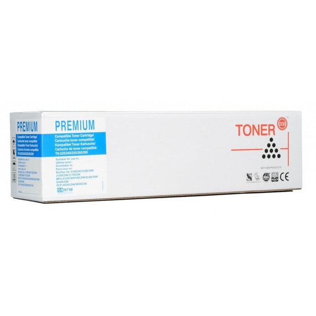 Icon: Compatible Brother TN255 - Cyan Toner Cartridge