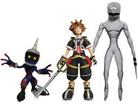 Kingdom Hearts: Select Action Figure 3-Pack - Sora/Heartless Soldier/Nobody