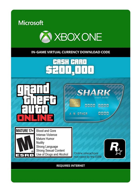 Grand Theft Auto V: Tiger Shark Cash Card for Xbox One (Digital Code) for Xbox One