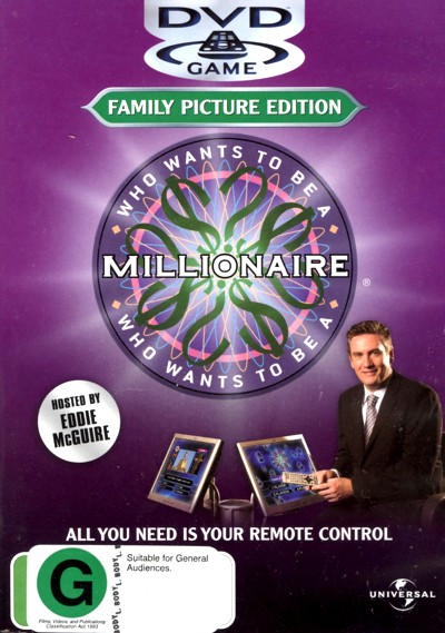 Who Wants To Be A Millionaire - Family Picture Edition: DVD Game on DVD image