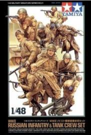 Tamiya: 1/48 WWII Russian Infantry & Tank Crew - Model Kit