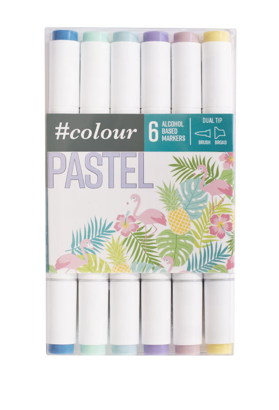#Colour: Marker Set - Pastel (6 Pack)