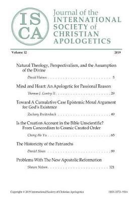 Journal of the INTERNATIONAL SOCIETY of CHRISTIAN APOLOGETICS by David Haines