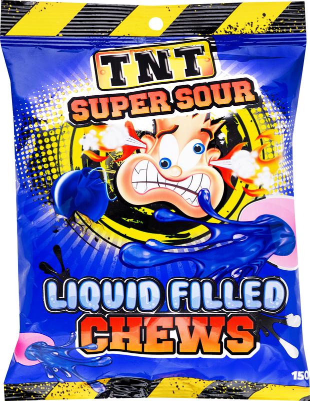 TNT Liquid Filled Sour Chew 150g