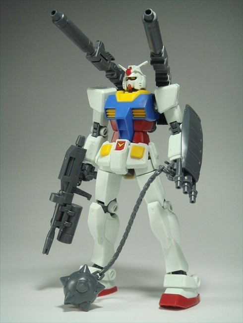 Gunpla Ace with New HG Gundam Weapon Parts (Hammer & Original Weapon)