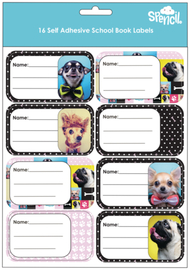 Spencil: Woof - Name & Subject Labels (16-Pack)