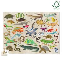 Crocodile Creek: Reptiles and Amphibians Puzzle -100pc