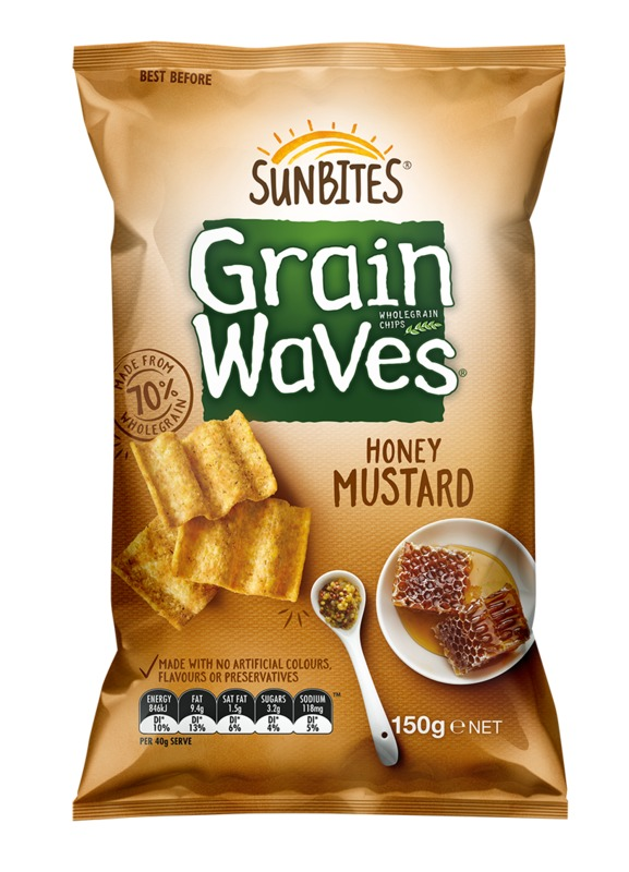 Sunbites Grain Waves - Honey Mustard (150g)