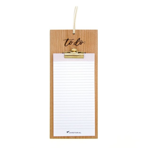 Cardtorial Wooden Clipboard - To Do