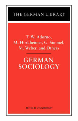German Sociology by Theodor W Adorno