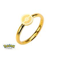 Pokemon Pokeball Ring Gold Plated (Size 8)