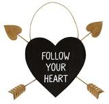 Golden Arrow Heart Plaque - Follow Your Heart