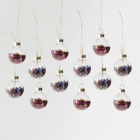 Mini Disco Stars Baubles (Set of 12)